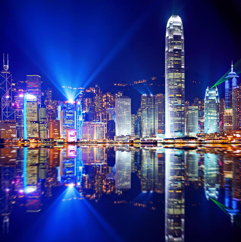 Hong Kong Island van Kowloon royalty-vrije stock fotografie