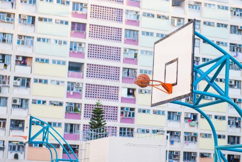 Hong Kong - January 12, 2018 :Basketball court at the Choi hung royalty free stock photo