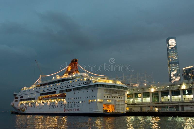 HONG KONG - 11 JANVIER : Victoria Harbor le 21 janvier 2016 photos stock