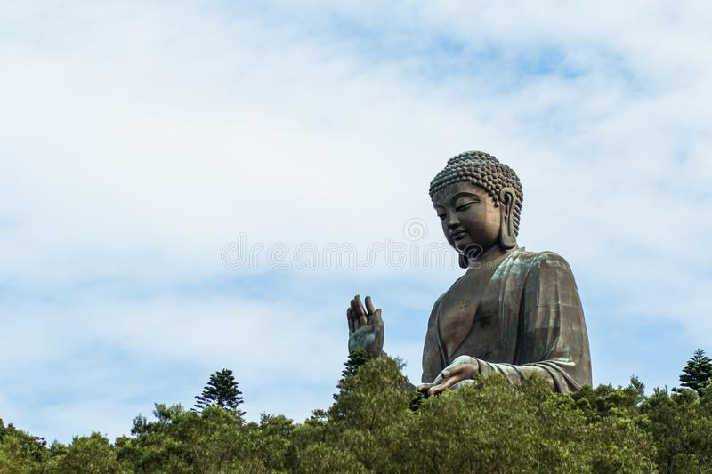 HONG KONG - July 7 th 2017 : Tian Tan Buddha , Big Budda. People visit the Tian Tan Buddha , Landmark royalty free stock photo