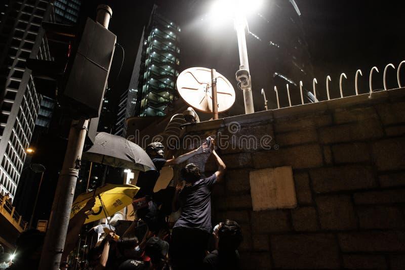Hong Kong - June/26/2019: ekstradycji Bill protest w Hong Kong zdjęcie royalty free