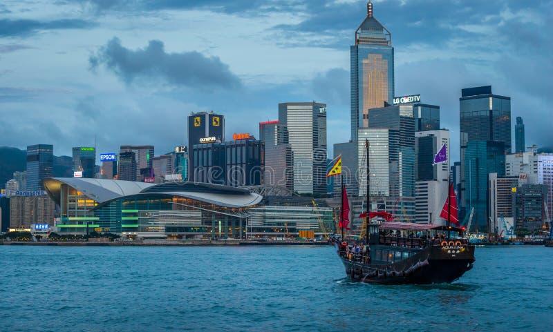 Hong Kong Junk Ship imágenes de archivo libres de regalías