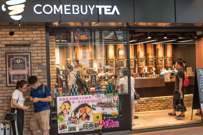 Hong Kong-Kaffee Teeshop lizenzfreie stockbilder