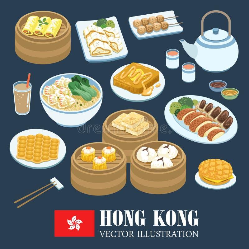 Hong Kong kokkonster stock illustrationer