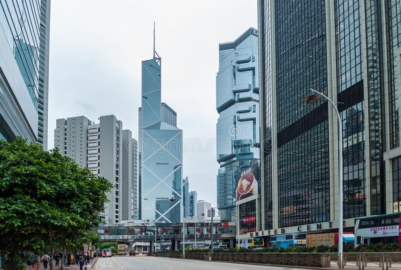 Hong Kong Korporacyjni budynki obraz royalty free