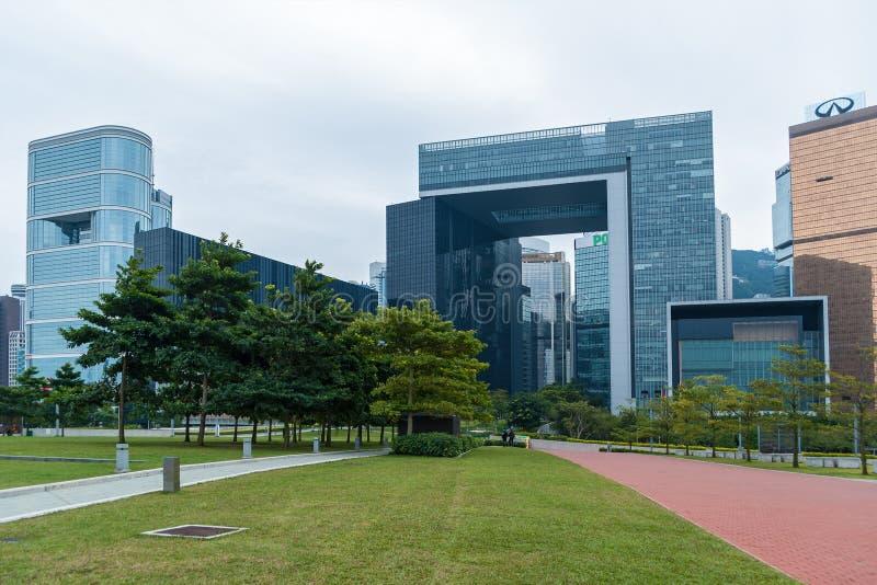 Hong Kong Korporacyjni budynki zdjęcie royalty free