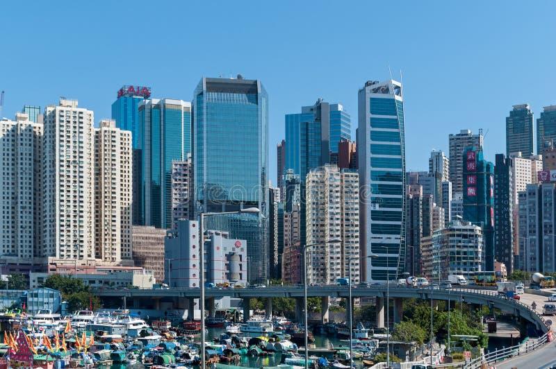 Hong Kong Korporacyjni budynki zdjęcia royalty free