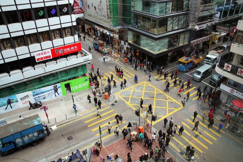 Hong Kong korsning fotografering för bildbyråer