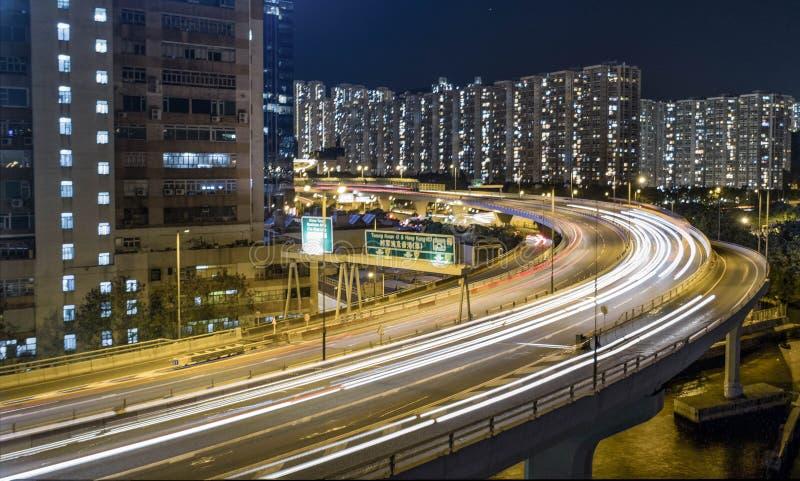 Hong Kong Kwan Tong Night DJI stock images