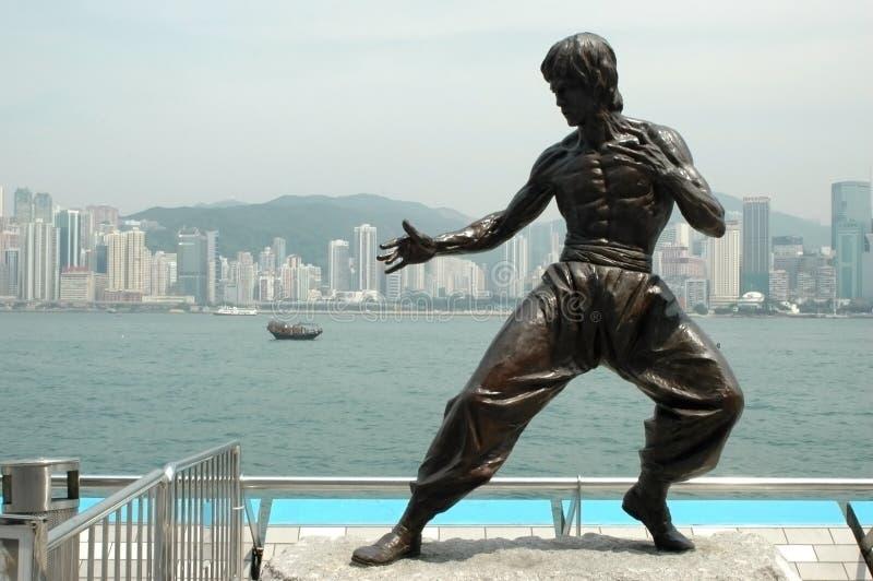 Hong Kong kungfuskulptur royaltyfri foto