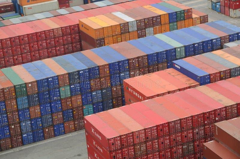 Hong Kong Kwai Chung Container Terminal royalty free stock photo