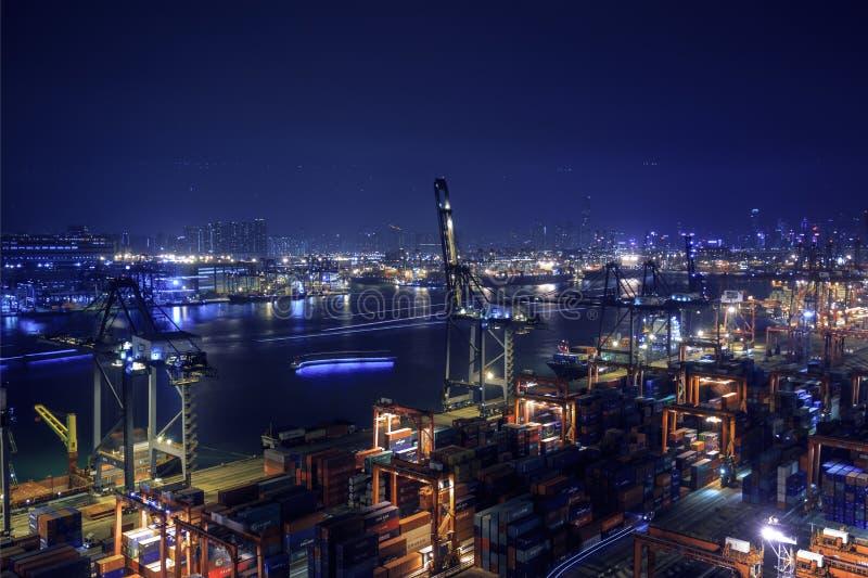 Hong Kong Kwai Chung nabrzeże 2016 obrazy royalty free