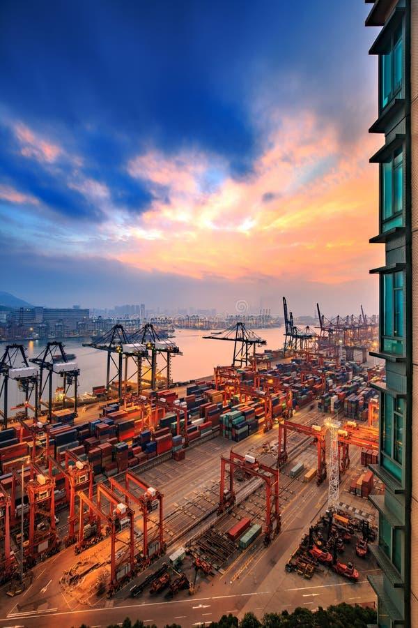 Hong Kong Kwai Chung Wharf 2016 immagine stock