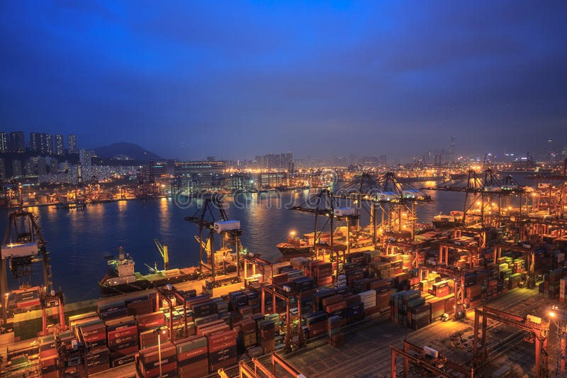 Hong Kong Kwai Chung Wharf 2016 foto de archivo libre de regalías