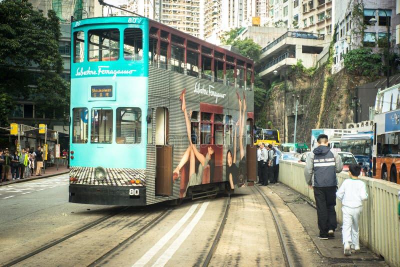 Hong-Kong-29 11 2017 : L'accident avec le train en Hong Kong image libre de droits