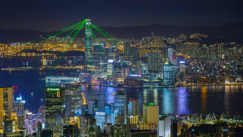 Hong Kong lampashow royaltyfria foton