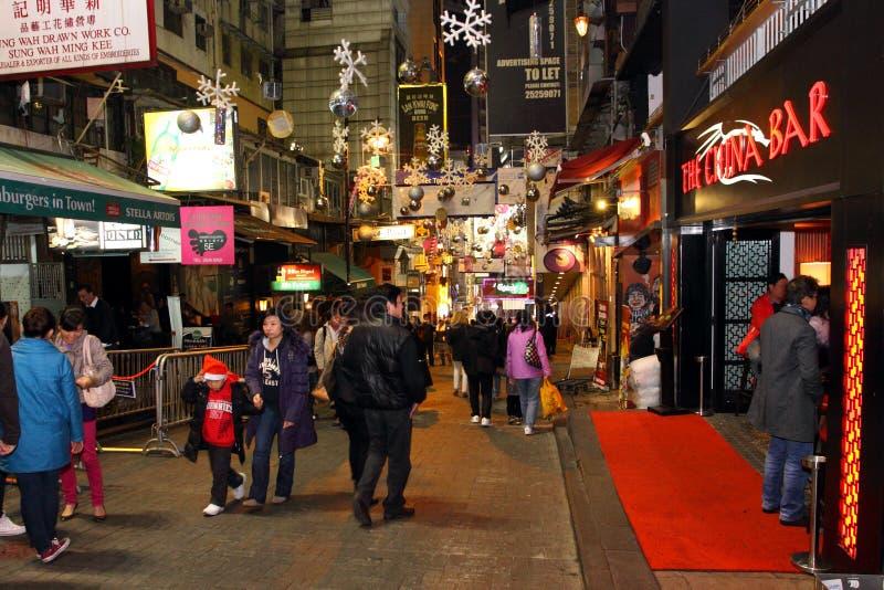 Hong Kong: Lan Kwai Fong fotografia stock