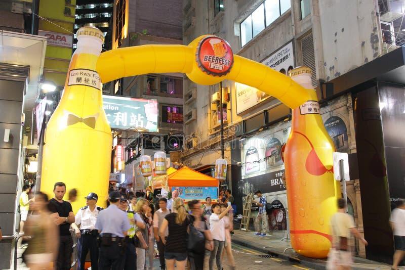 Hong Kong: Lan Kwai Fong Beer & Fest 2013 da música imagens de stock royalty free