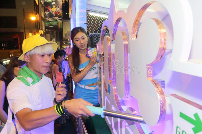 Hong Kong: Lan Kwai Fong piwo & muzyki Fest 2015 zdjęcie royalty free