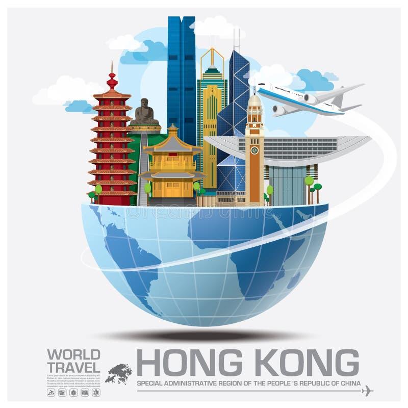Hong Kong Landmark Global Travel And Journey Infographic stock illustration