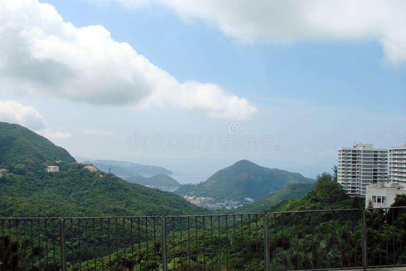 Hong Kong Landscapes van parken, dijken, kustbaai stock foto's