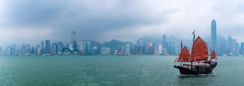 Hong Kong landskap royaltyfria foton