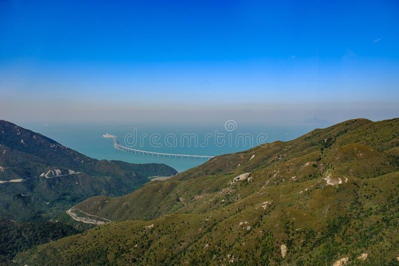 Hong Kong landskap, flyg- sikt arkivbilder