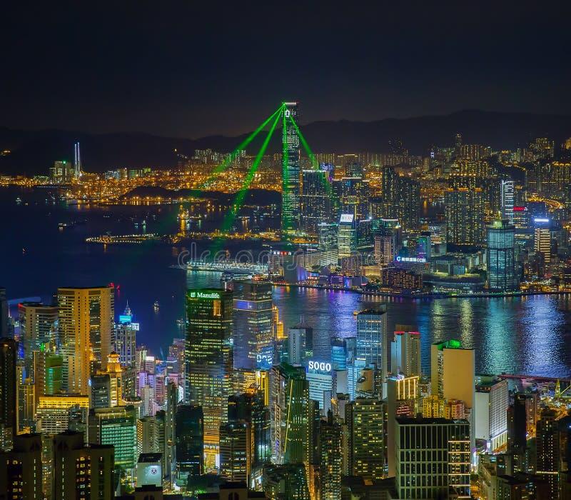 Hong Kong light show royalty free stock images