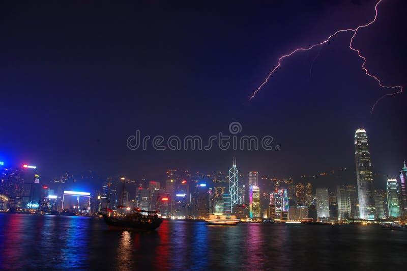 Hong Kong Lightning stock photos