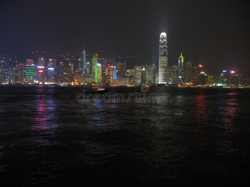 Hong kong lights stock photos