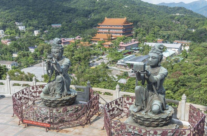 hong kong Lin monaster po zdjęcie stock