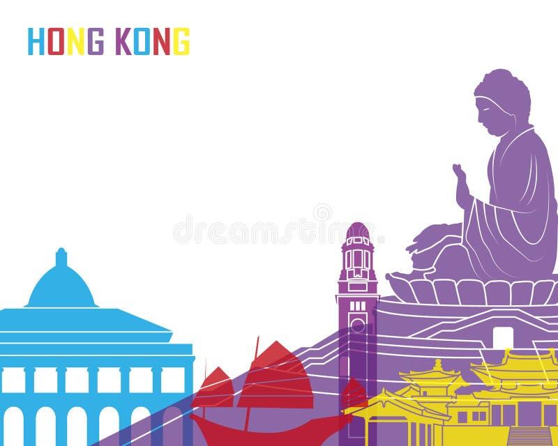 Hong Kong linii horyzontu wystrzał ilustracji