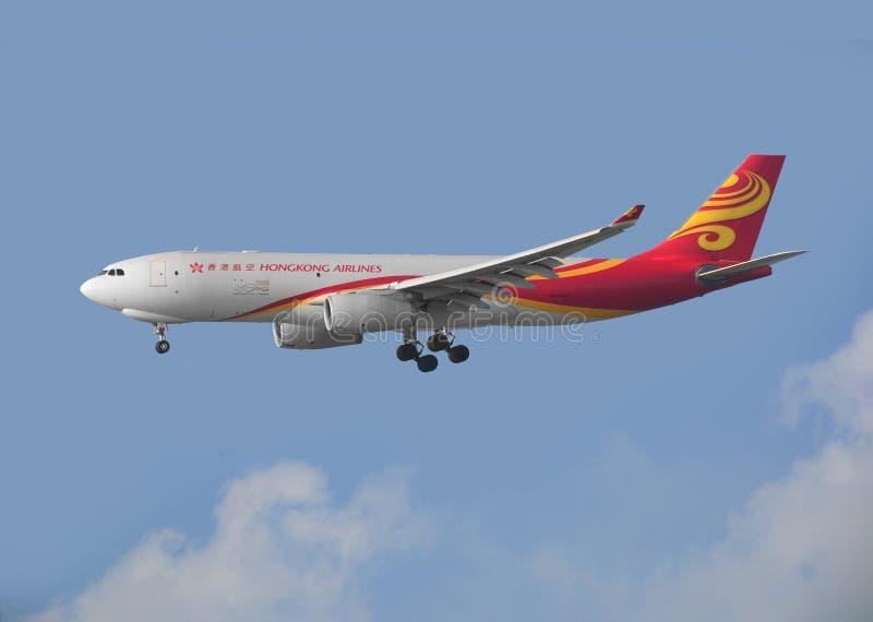 Hong Kong linii lotniczych ładunek A330 przyjeżdża w Hong Kong obraz royalty free