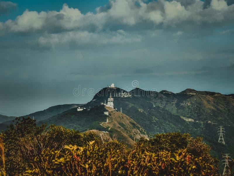 Hong Kong Lion Rock Country-Parkbergen royalty-vrije stock afbeelding