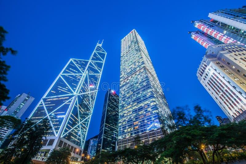 Hong Kong, LIPIEC - 31, 2014: Banka Chin biuro dalej zdjęcia stock