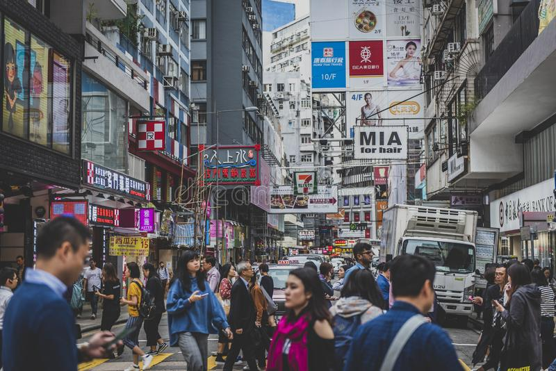 Hong Kong, Listopad 2018 - piękny miasto zdjęcia royalty free