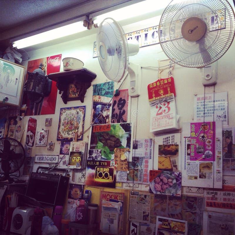 Hong Kong lokaleatery fotografering för bildbyråer