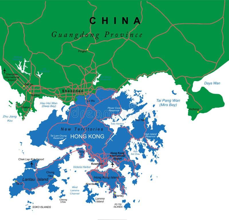 Free Hong Kong Map Stock Photography - 28253892