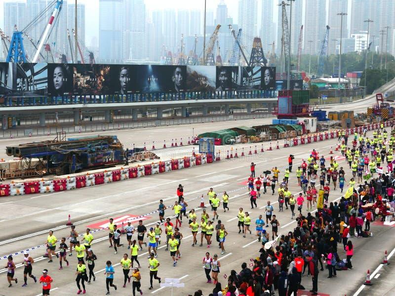 Hong Kong Marathon 2018 fotos de archivo