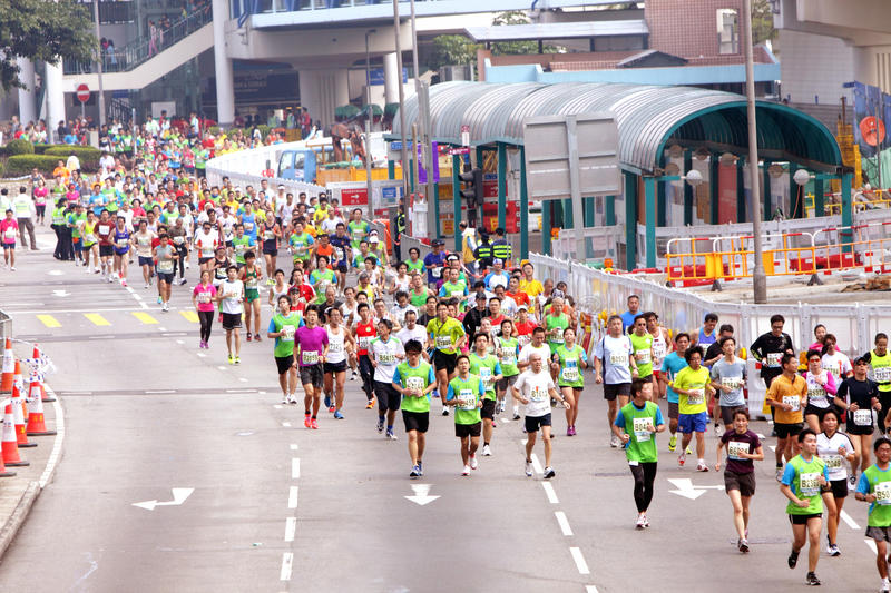 Download Hong Kong Marathon 2012 editorial image. Image of hongkong - 23224090