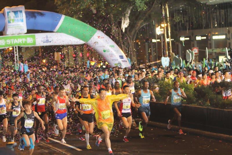 Hong Kong Marathon 2014 stock afbeeldingen