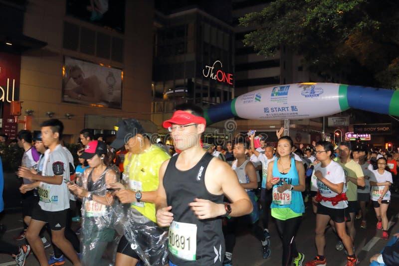 Hong Kong Marathon 2015. The Honourable Mrs. Lam Cheng Yuet-ngor, Carrie, Chief Secretary for Administration of the Hong Kong Special Administrative Region royalty free stock photos