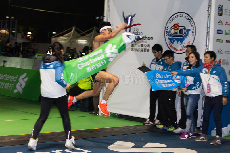 Hong Kong Marathon 2015 stock photo