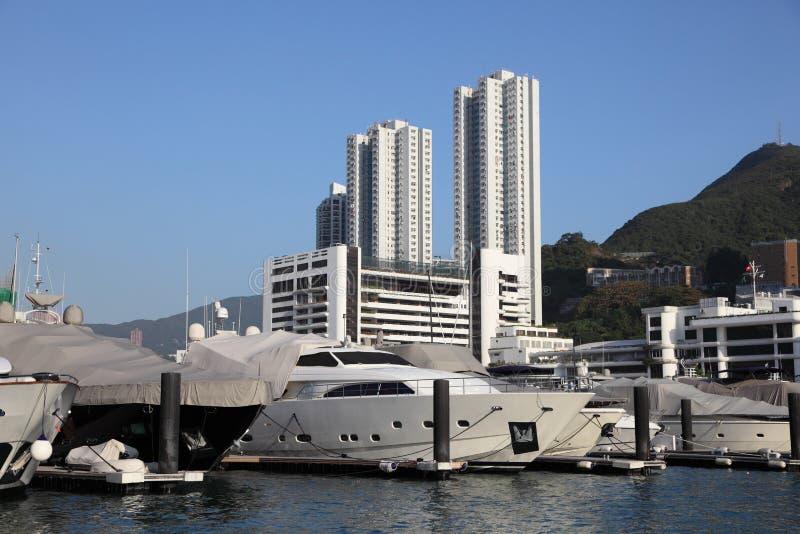 Hong Kong Marina stock photo