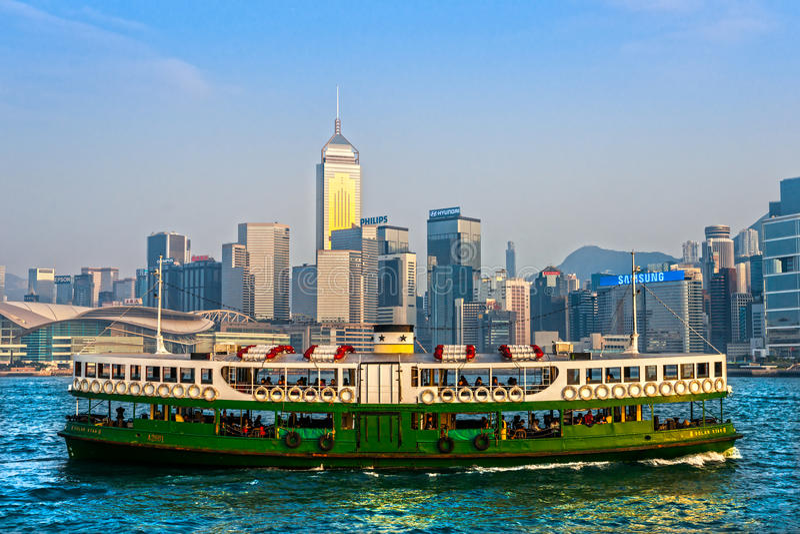 Port de Hong Kong. photo stock