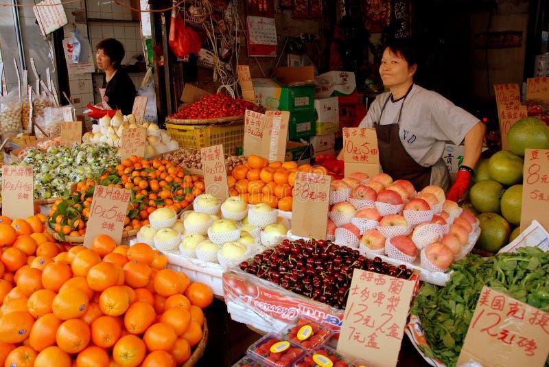 Hong Kong: Mercato della strada di cantone fotografia stock libera da diritti