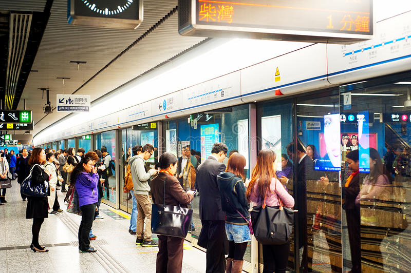 Hong Kong metro fotografia stock