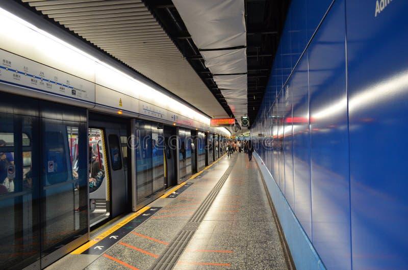 Hong Kong Metro Station Editorial Stock Image