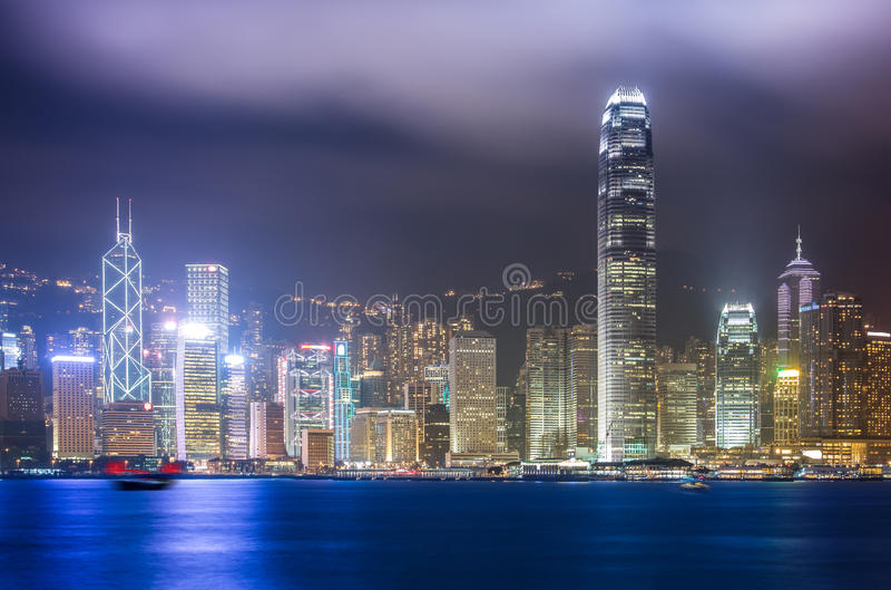 Hong Kong miasta krajobraz zdjęcia stock