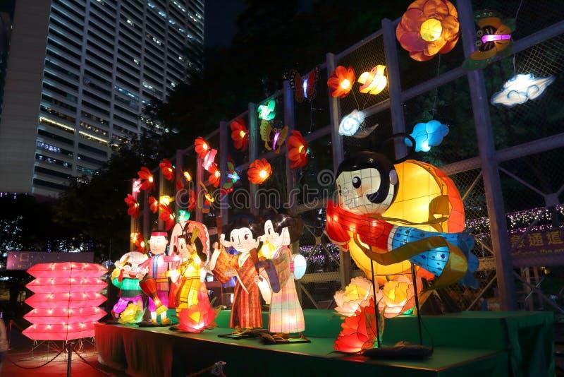 Hong Kong Mid-Autumn Festival 2013 fotos de stock